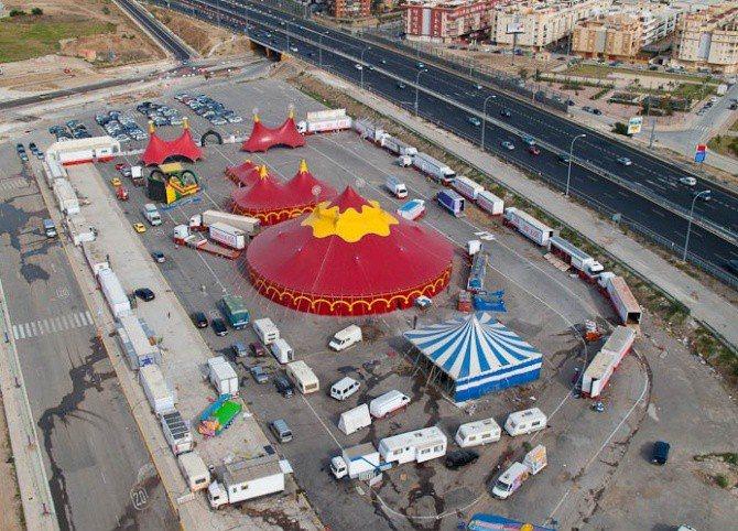 Resultado de imagen de circo  vista aerea